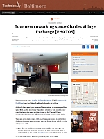 Technical.ly article - Tour new coworking space Charles Village Exchange