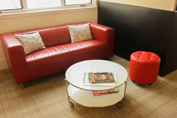 Charles Village Exchange's comfortable lounge area